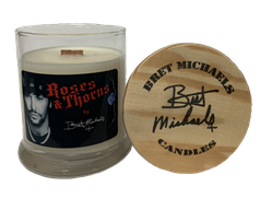 Bret Michaels Roses & Thorns Candle - Medium Jar Bret Michaels, Brett Michaels, Bret Micheals, Brett Micheals, LIfestyle, Style, Life, Collection, Home, Inspiration, gifts, candle, roses and thorns